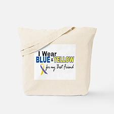 I Wear Blue & Yellow....2 (Best Friend) Tote Bag