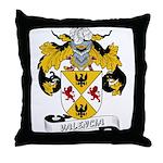 Valencia Family Crest Throw Pillow