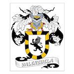 Valenzuela Family Crest Small Poster