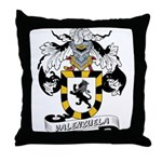 Valenzuela Family Crest Throw Pillow