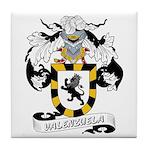 Valenzuela Family Crest Tile Coaster