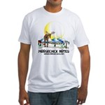 Moosechick Notes Fitted T-Shirt
