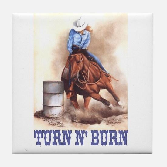 TURN N' BURN Tile Coaster
