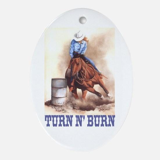 TURN N' BURN Keepsake (Oval)