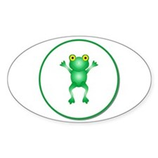 Whimiscal Little Frog Oval Decal