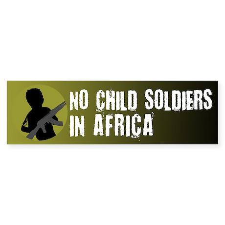 No Child Soldiers in Africa Bumper Sticker (10 pk)