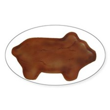 Maranito/Ginger Pig Cookie Oval Decal