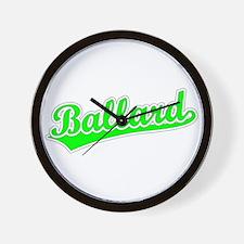 Retro Ballard (Green) Wall Clock
