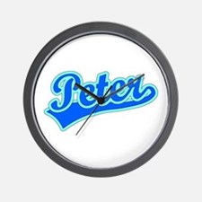 Retro Peter (Blue) Wall Clock