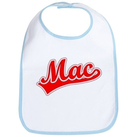 Retro Mac (Red) Bib