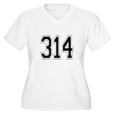 314 Womes Plus-Size V-Neck T-Shirt