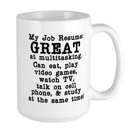 My Job Resume Large Mug