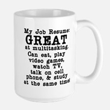 My Job Resume Large Mug