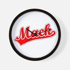 Retro Mack (Red) Wall Clock