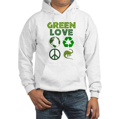 Green Love - Dino 1 Hooded Sweatshirt