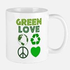 Green Love - Heart 1 Mug
