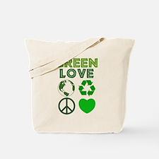 Green Love - Heart 1 Tote Bag