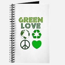 Green Love - Heart 1 Journal