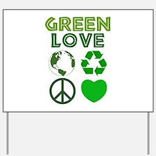 Green Love - Heart 1 Yard Sign