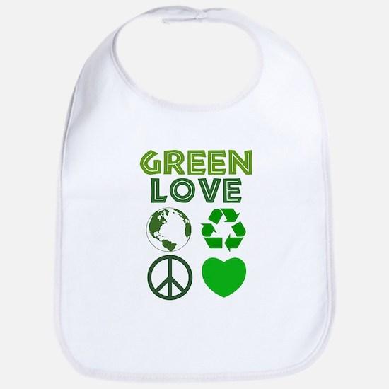 Green Love - Heart 1 Bib
