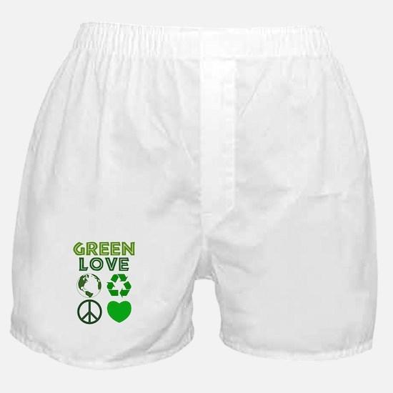 Green Love - Heart 1 Boxer Shorts