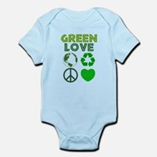 Green Love - Heart 1 Infant Bodysuit