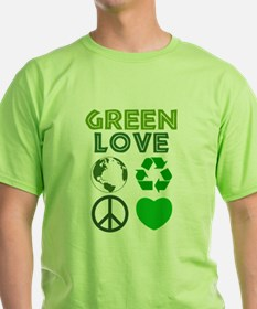 Green Love - Heart 1 T-Shirt