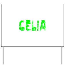 Celia Faded (Green) Yard Sign