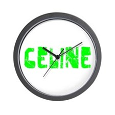 Celine Faded (Green) Wall Clock