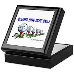 Golfers Have More Balls Keepsake Box