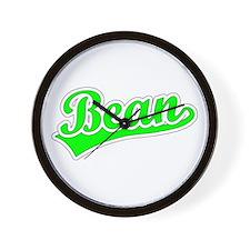 Retro Bean (Green) Wall Clock
