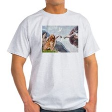 Creation of Golden Retreiver Ash Grey T-Shirt