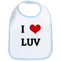 I Love LUV Bib