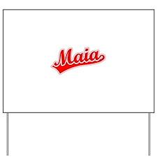 Retro Maia (Red) Yard Sign