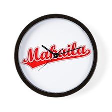 Retro Makaila (Red) Wall Clock