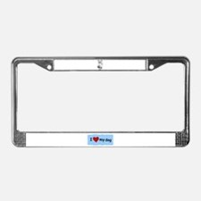 LOVE MY CHIHUAHUA License Plate Frame