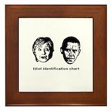 Anti obama Framed Tiles
