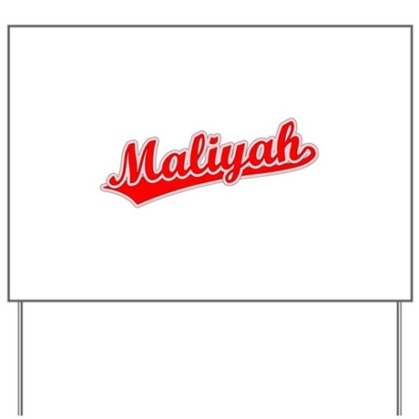 Retro Maliyah (Red) Yard Sign