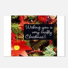 A Very Crafty Christmas Postcards (Package of 8)
