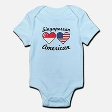 Singaporean American Flag Hearts Body Suit