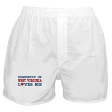 Somebody in West Virginia Loves Me Boxer Shorts