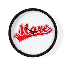 Retro Marc (Red) Wall Clock