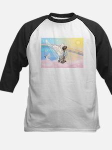 Angel / English Setter Kids Baseball Jersey