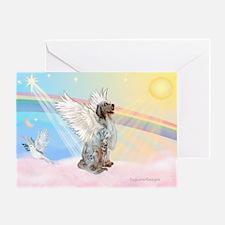 Angel / English Setter Greeting Card