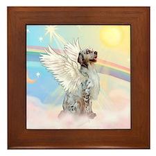 Angel / English Setter Framed Tile