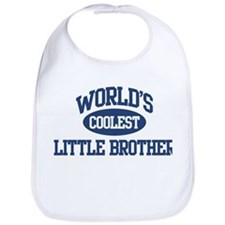 World's Coolest Little Brothe Bib