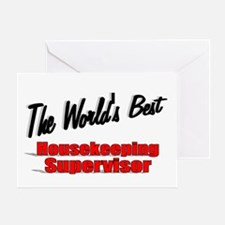 """The World's Best Housekeeping Supervisor"" Greetin"