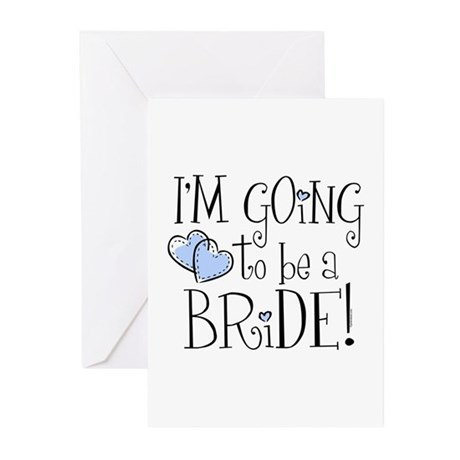 Heart Bride Greeting Cards (Pk of 10)