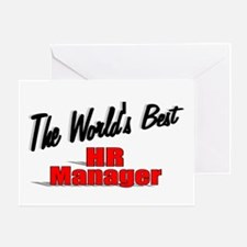 """""""The World's Best HR Manager"""" Greeting Card"""