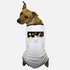 Night Flight - White Cat Dog T-Shirt